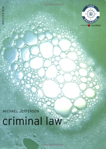 9781405899048: Criminal Law (Foundation Studies in Law Series)