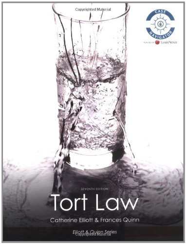 9781405899338: Tort Law (The Elliott & Quinn Series)