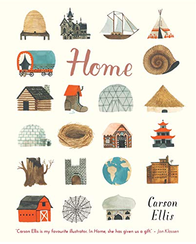 Home 9781406365795 Influential artist Carson Ellis makes her solo picture-book debut with a beautifully imaginative tribute to the many possibilities of home. The picture book debut of Carson Ellis, acclaimed illustrator of the Wildwood series and Lemony Snicket's The Composer is Dead, this is a gorgeous, imaginative celebration of the many possibilities of home. Home might be a house in the country, a flat in the city, or even a shoe. There are clean homes, messy homes, sea homes and bee homes. Home resides on the road or the sea, in the realm of myth, or in the artist's own studio. This loving look at the places where people live brims with intriguing characters and is a visual treat that demands many a return visit.