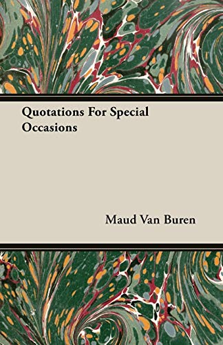 9781406748000: Quotations For Special Occasions