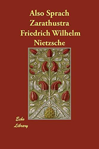 9781406819861: Also Sprach Zarathustra (German Edition)