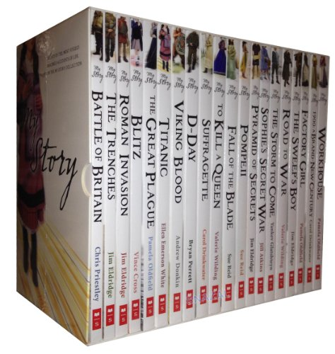 9781407136325: My Story Collection 20 Books Set Pack RRP: £139.80 (Road to War, Factory Girl, PompeII, The Sweep's Boy, Titanic, To Kill a Queen, Roman Invasion, Workhouse, Battle of Britain, D-Day, 1900: A Brand-New Century) (Mr Story Collection)