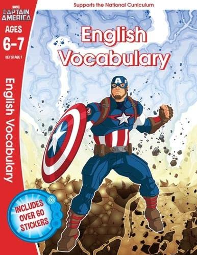 9781407171647: Captain America: English Vocabulary, Ages 6-7 (Marvel Learning)