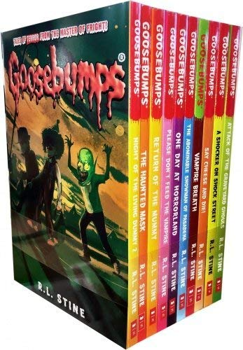 9781407172378: Goosebumps Series 10 Books Collection Set (Classic Covers)