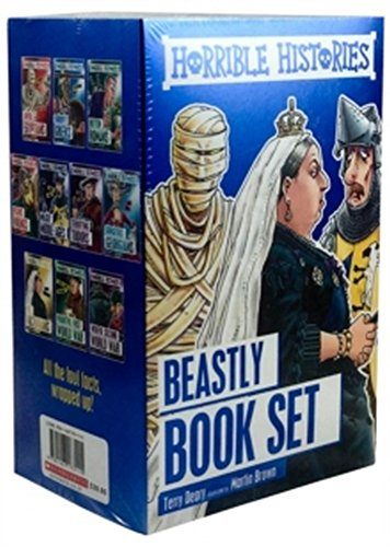 9781407173115: Horrible Histories 10 Book Box Set [Paperback] [Jan 01, 2016] Terry Deary