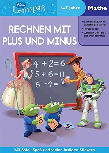 9781407596105: Disney Lernspaß mit Stickern. Rechnen mit Plus und Minus: 6-7 Jahre Mathe: Mit Spiel, Spaß und vielen lustigen Stickern!