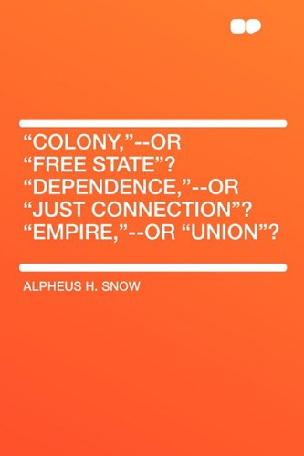 9781407617220: Colony,--or