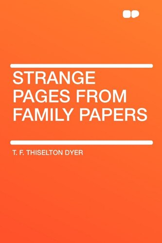 9781407618302: Strange Pages from Family Papers