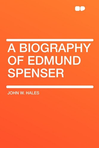 9781407640853: A Biography of Edmund Spenser