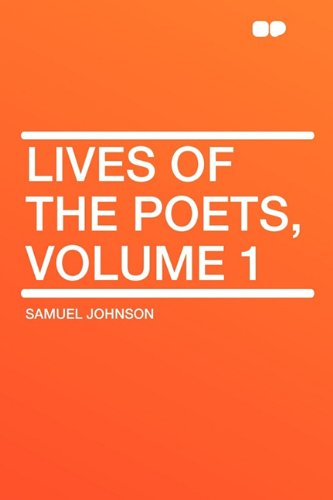 9781407654751: Lives of the Poets, Volume 1