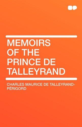 9781407656793: Memoirs of the Prince de Talleyrand