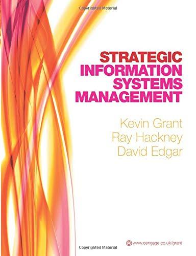 9781408007938: Strategic Information Systems Management