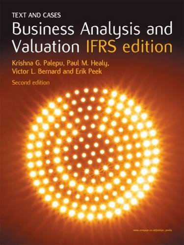 Business Analysis And Valuation Ifrs Pdf