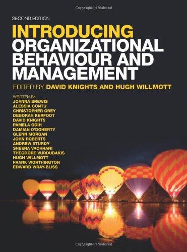 9781408030189: Introducing Organizational Behaviour & Management