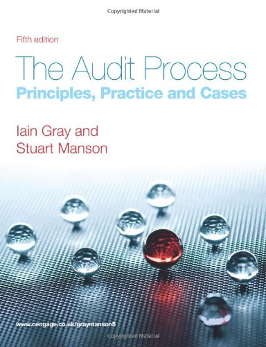9781408030493: The Audit Process: Principles, Practice and Cases