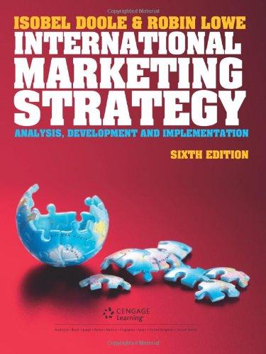 9781408044070: International Marketing Strategy.