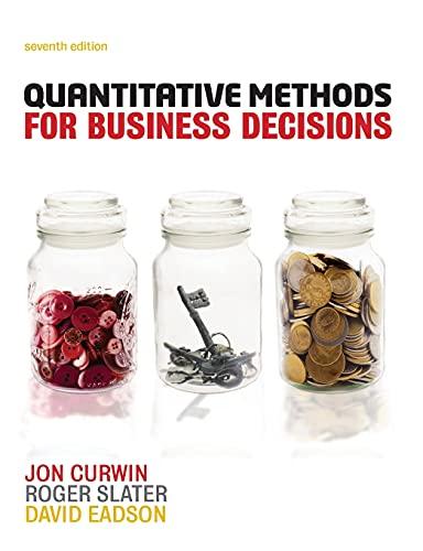 9781408060193: Quantitative Methods for Business Decisions