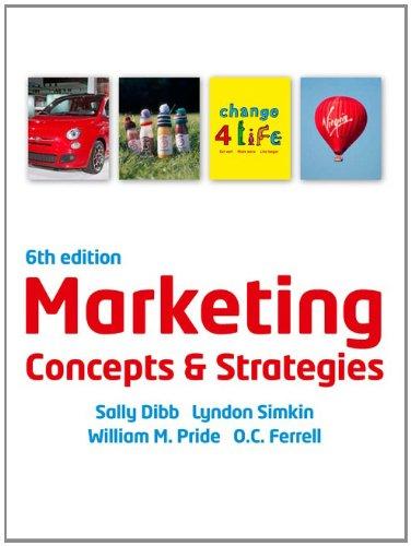 9781408064320: Marketing Concepts and Strategies. Sally Dibb ... [Et Al.]