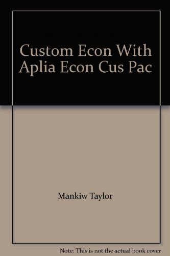 9781408071083: Custom Econ With Aplia Econ Cus Pac