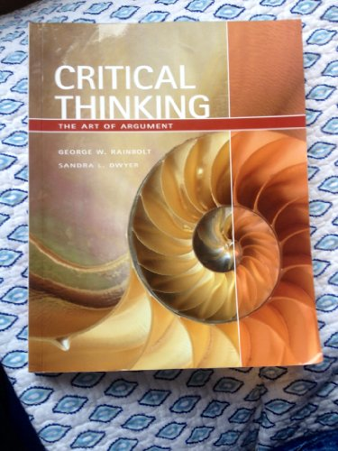 9781408077368: Critical Thinking: The Art of Argument