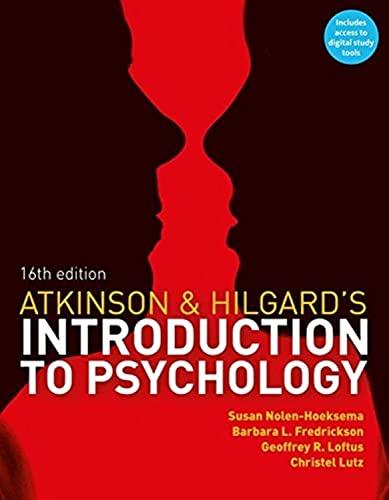 9781408089026: Atkinson & Hilgards Introduction To Psyc