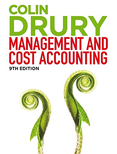 Management and Cost Accounting (with CourseMate and: Drury, Colin