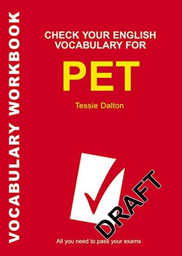 9781408104545: Check Your English Vocabulary for PET (Check Your Vocabulary)