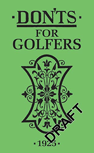 Don'ts for Golfers: Ian Woosnam