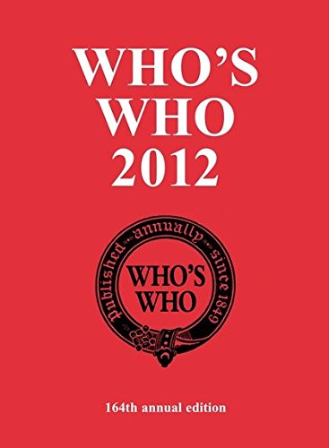 Who's Who 2012 (Who's Who (ACB)): various