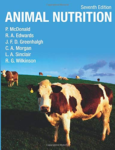Animal Nutrition 9781408204238 The latest edition of this classic text has been reorganised to provide a clear and comprehensive introduction to the science and practice of animal nutrition. Animal Nutrition is split into six main sections covering: The components of food; The digestion and metabolism of nutrients; Quantifying the nutrient content of foods: digestibility, energy and protein values; The nutrient requirements of animals; The nutritional characteristics of foods; and Animal products and human nutrition. The Appendices provides comprehensive tables on the composition of foods and feeding standards for dairy and beef cattle, sheep, pigs and poultry, and horses. The text is supported by key experimental evidence throughout. Quantitative aspects of the subject are clearly explained and illustrated by worked examples. Problems and solutions have now been added to all chapters to aid student learning.