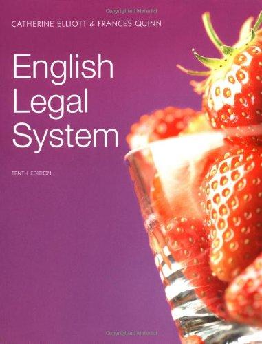 9781408204528: English Legal Sytem