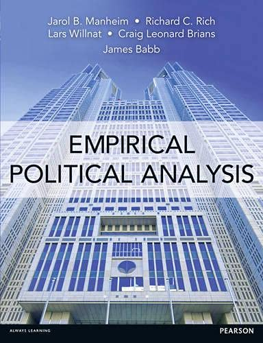 Empirical Political Analysis: An Introduction to Research: Manheim, Prof Jarol