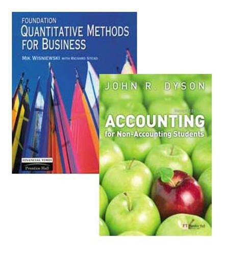 9781408207260: Valuepack:Foundation Quantitative Methods for Business/Accounting for Non-Accounting Students