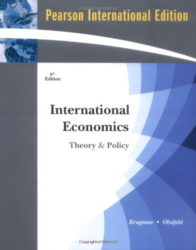9781408208076: International Economics: Theory and Policy