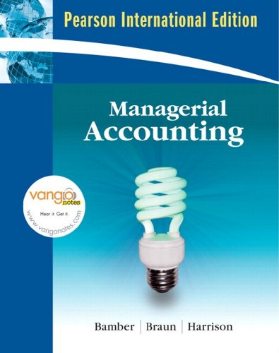 9781408208144: Managerial Accounting: AND MyAccountingLab CourseCompass Student Access Code Card