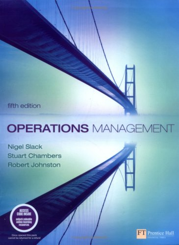 Operations Management: WITH Quantitative Analysis in Operations Management AND Companion Website with Gradetracker Student Access Card: Operations Management (1408215373) by [???]
