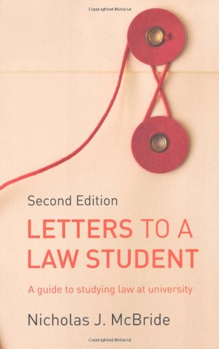 9781408218808: Letters to a Law Student