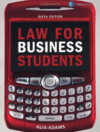 9781408225455: Law for Business Students