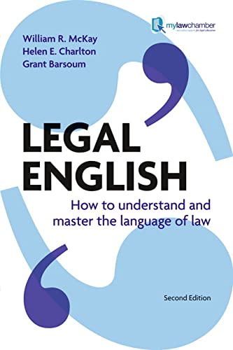 9781408226100: Legal English: How to Understand & Master the Language of Law, Uk Edition