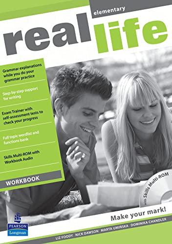 9781408235133: Real Life Global Elementary Workbook & Multi-ROM Pack