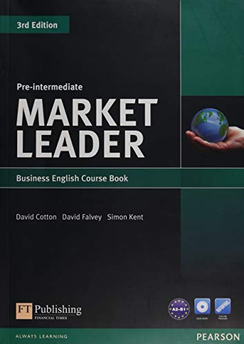Market Leader Pre-intermediate Coursebook & DVD-rom Pack (1408237075) by Cotton, David; Falvey, David; Kent, Simon
