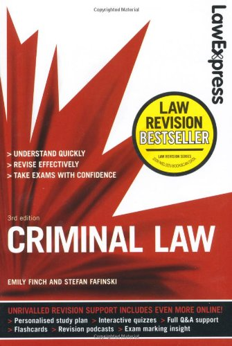 9781408239872: Law Express: Criminal Law (Revision Guide)