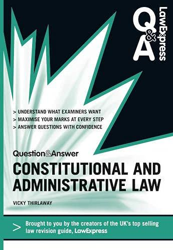 Constitutional and Administrative Law.: Thirlaway, Vicky