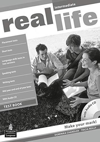 9781408243039: Real life Global Intermediate Test Book & Test Audio CD Pack