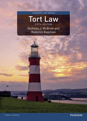 9781408252703: Tort Law, Uk Edition (Longman Law)