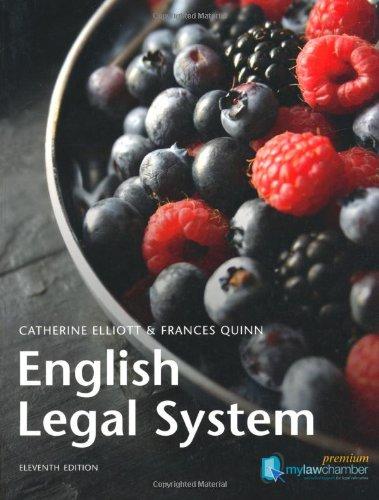 9781408256145: English Legal System