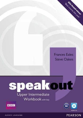 9781408259559: Speakout. Upper intermediate. Workbook-Key. Per le Scuole superiori. Con CD-ROM