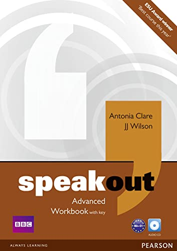 9781408259566: Speakout Advanced Workbook with Key and Audio CD Pack