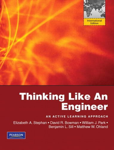 9781408264140: Thinking Like an Engineer:An Active Learning Approach:International Edition Plus MATLAB & Simulink Student Version 2010