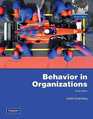 9781408264300: Behavior in Organizations